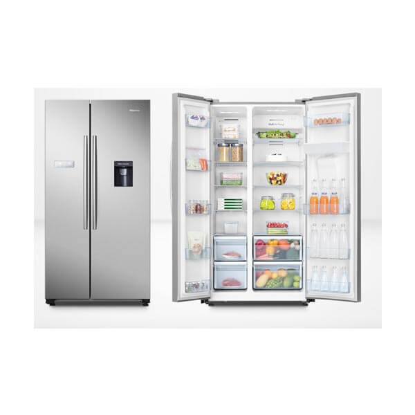 624L Hisense Side By Side Fridge Freezer